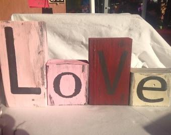Love Block Decor