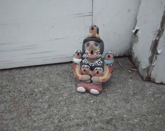 Signed Jemez Clay Storyteller Figurine