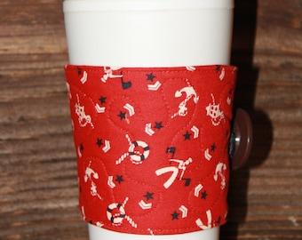 Navy Reusable Coffee Sleeve