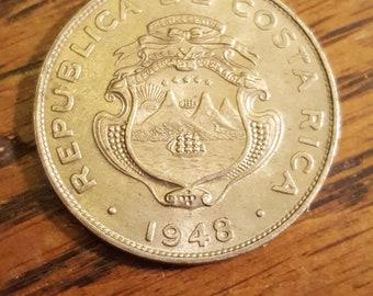 1948  Costa Rica 25 Centimo