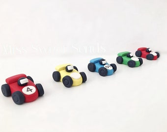 Race Car Cupcake Toppers, Racecar Cake Toppers