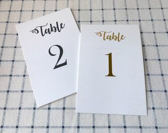 10pcs Table Number Cards Wedding Banquet Reception Event Easter Function • Black or Gold Foil • Custom Table Number