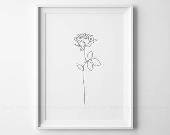 Black Line Flower Drawing : Black and white line drawing wallpaper decorative seamless