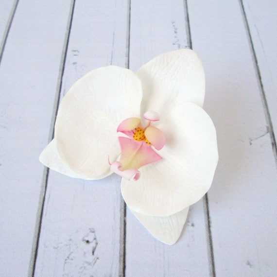 Weiße Orchidee Haarclip Orchidee Haarnadel Hochzeit Blume
