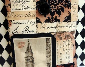 Kindle Cover Sleeve ~ European Traveler ~ Script
