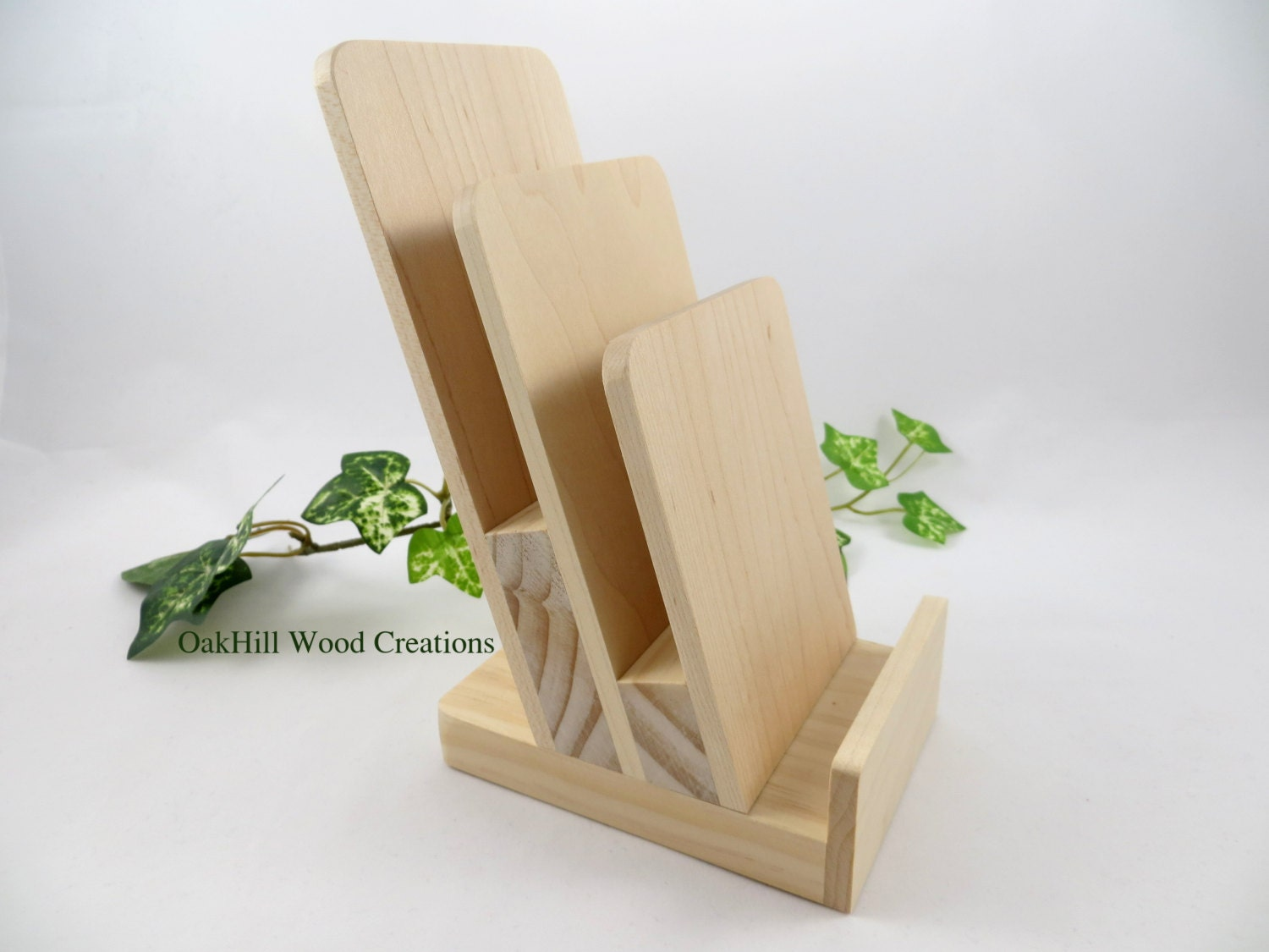 Display Stand 3 Tier Rack Card Stand Brochure Holder Wooden