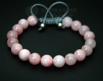Mother's Day Gift , Pink Bracelet, Womens Jewelry, Adjustable Bracelet, Pink Jade , Jewelry For Women, Back To School, Summer Bracelet