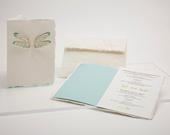 Congratulation-Wedding-set, 3 cards - handmade paper cards laser cut motif with paper insert and enevelope
