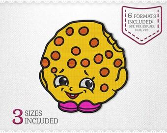 Shopkins Kooky Cookie Embroidery Machine Design