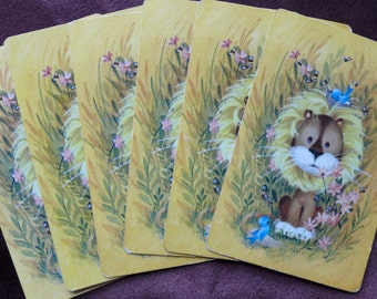 Vintage Cuddly Lion Playing Cards