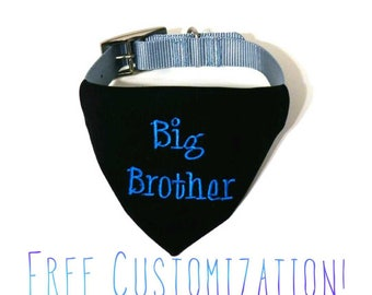 Pregnancy Announcement - Baby Announcement - Pregnancy Reveal - Custom Dog Bandana - Baby Reveal - Big Brother Dog Bandana - Future Brother