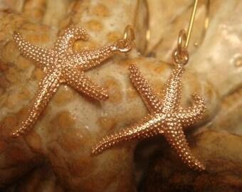 Starfish Earrings - Beach Earrings - Mermaid Earrings - Minimalist Jewelry - Rose Gold Earrings - Beach Jewelry
