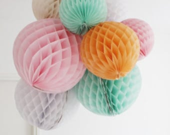 10 x choose your colours honeycomb balloons