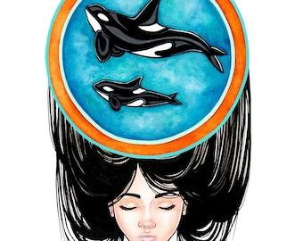 Orca Spirit Original Painting