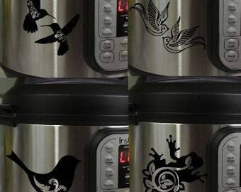 Instant Pot Decal Sticker Choose Frog, Bird, Hummingbird, Swallow