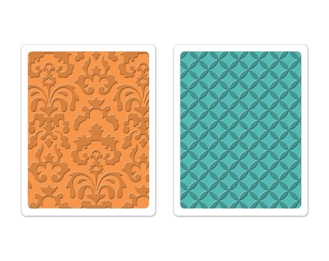 Brenda Walton Sizzix Textured Impressions Embossing Folders 2PK - Chateau Damask & Veranda Set 659626