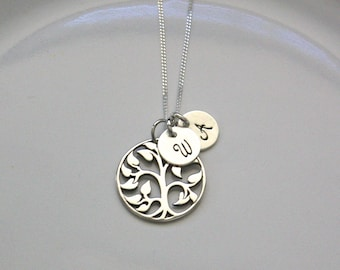Family Tree Necklace - Family Tree of Life Jewelry - Personalized Mother Necklace - Mom Jewelry - Grandma Jewelry - Mother's Day Jewelry