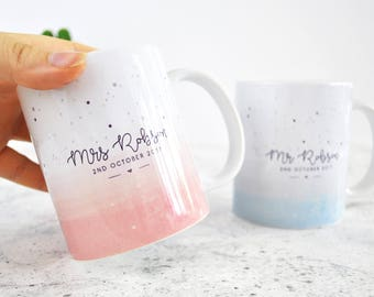 Wedding mug etsy mr mrs wedding mug personalised wedding gifts wedding mugs personalised anniversary gifts negle Gallery