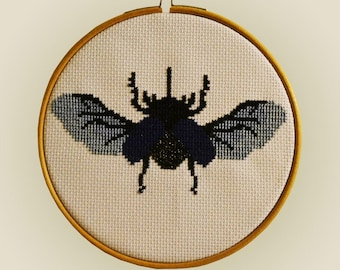 Cross Stitch Kit - Rhino Beetle 'Dynastinae' Simple Cross Stitch