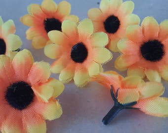 set of 20 flowers sunflower 4 cm