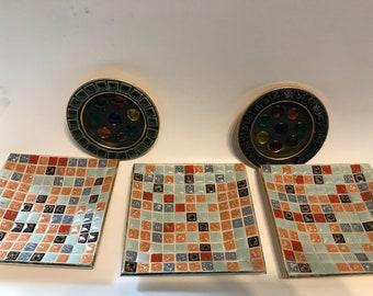 Vintage ashtrays set of 5