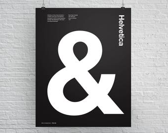 Helvetica Ampersand, &, Swiss, International Style, Typographic, Architectural, Quote, Black and White, Modern Art, Wall Art, Poster Art