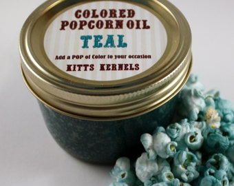 Colored Party Popcorn Oil/ Teal