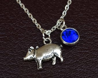 Pig Necklace, Pig Charm, Pig Pendant, Pig Jewelry, Pig Lover, Pig Lover Gift, Pig Gifts, Farmers Wife Jewelry, Farmers Daughter Necklace
