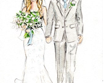 Custom Watercolor Wedding illustration