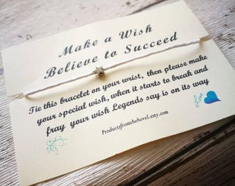 Make a Wish Bracelet, Wish Bracelet, Friendship Bracelet, String Bracelet, Cord Bracelet, Best Friend Bracelet, Gift for him, Gift for her