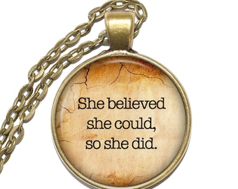 R. S. GREY QUOTE Necklace, Scoring Wilder, Feminism, Girl Power, Supergirl, Inspirational Necklace