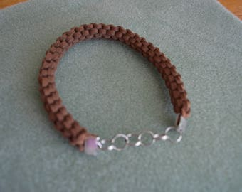 Brown Faux Suede Bracelet