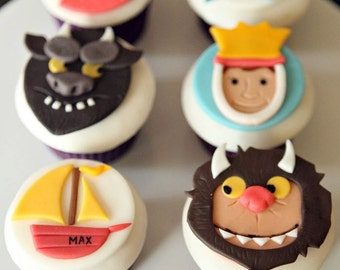Where the Wild Things Are Fondant Cupcake Toppers