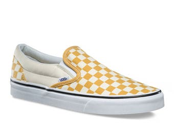Mineral Yellow Checkered With Mineral Yellow and (Beige or Chrome) Spikes