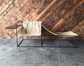 Modern Wrought Iron Chair Lounger