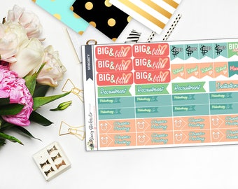 Sorority Planner Stickers | for use with Erin Condren Lifeplanner™, Filofax, Personal, A5, Happy Planner