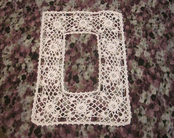 Handmade Victorian Crocheted Cotton Lace Collar or Bodice