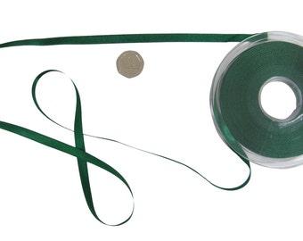Double Faced Dark Hunter Green Satin Ribbon 7mm *4 Lengths*