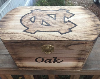 North Carolina Tarheels Personalized Chest - Keepsake Chest - Piggy Bank