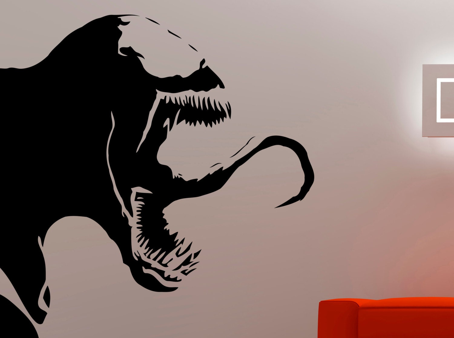 Venom wall decal spiderman stickers marvel comics wall art zoom amipublicfo Image collections