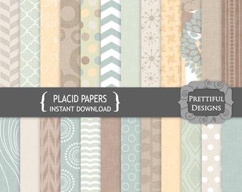 Winter Digital Scrapbook Paper Geometric Patterns Canvas Texture CU Ok