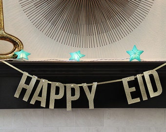 Happy Eid Banner, Eid Banner, Gold Glitter Eid Banner, Eid Mubarak, Modern Eid Banner, Gold Eid