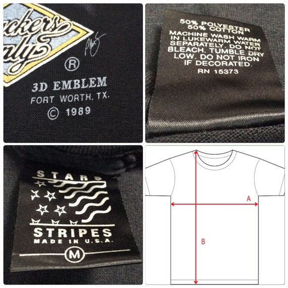 U S Made Shirt ONLY 3D Vintage TRUCKERS A in 1989 Emblem DEADSTOCK ax180