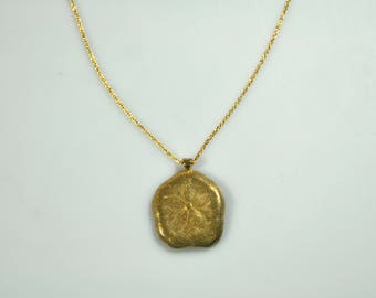 Rare sand dollar pendant necklace, Sterling Silver, 18k gold, gold plated optional, handmade necklace, gift,