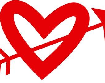 Arrow thru my heart DECAL