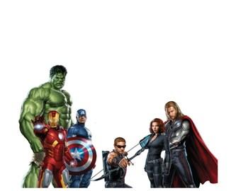Avengers Iron On Transfer