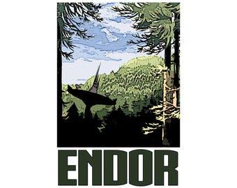 "Endor 13"" x 19"" Travel Poster"