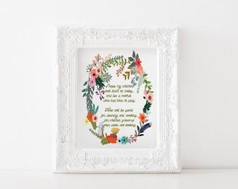 When were not looking poem - motherhood printable, motherhood print, mothers day, parenthood print, parenthood printable, mothers day gift