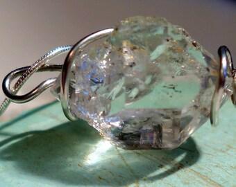 Herkimer Diamond Necklace, Herkimer Diamond Jewelry, Herkimer Diamond Pendant, Herkimer Diamond,Gemstone Pendant, BirthstoneJewelry,Herkimer