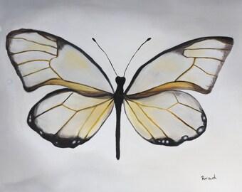 Splendor. Acrylic painting on canvas. The butterfly.
